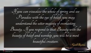 Said Nursi quote : If you can visualize ...