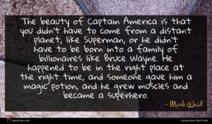 Mark Waid quote : The beauty of Captain ...