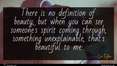 Photo of Liv Tyler quote : There is no definition …
