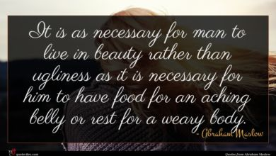 Photo of Abraham Maslow quote : It is as necessary …