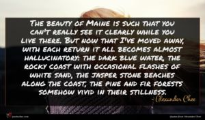Alexander Chee quote : The beauty of Maine ...