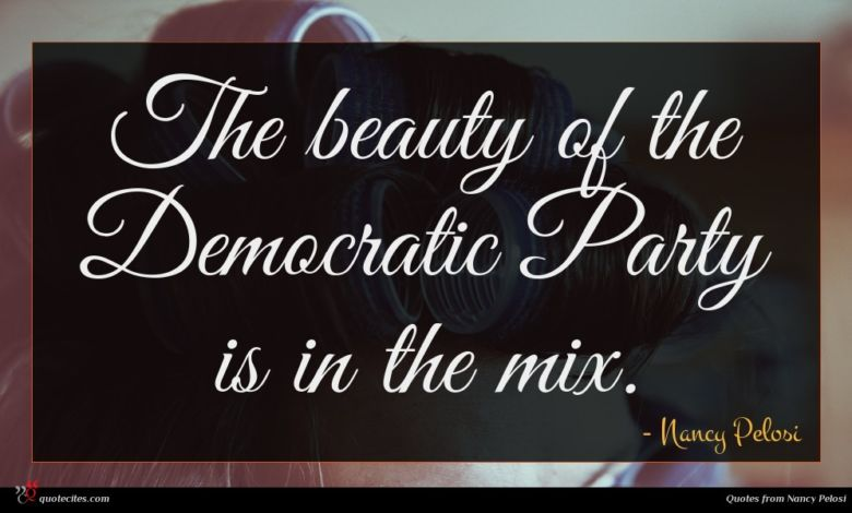 The beauty of the Democratic Party is in the mix.
