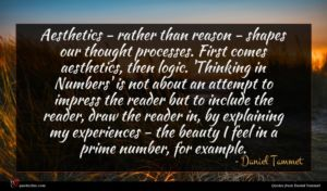 Daniel Tammet quote : Aesthetics - rather than ...