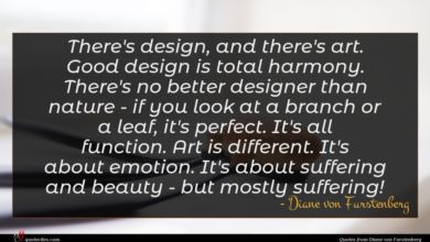 Photo of Diane von Furstenberg quote : There's design and there's …