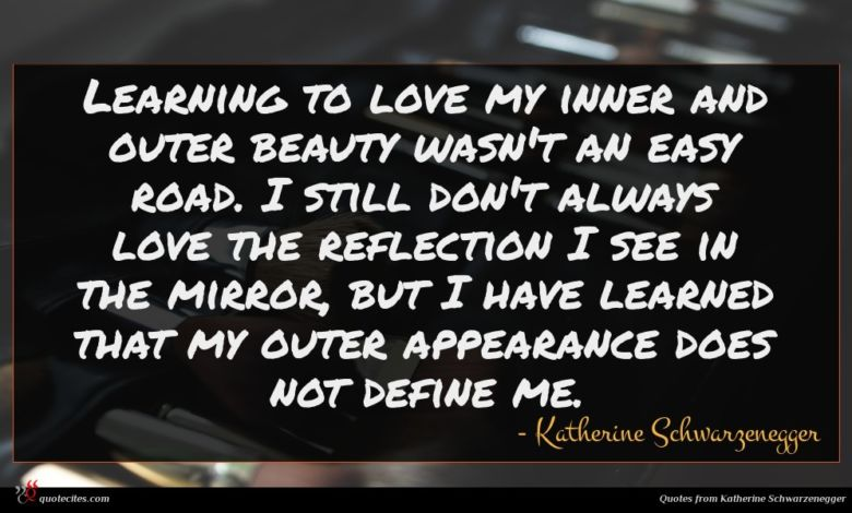 Learning to love my inner and outer beauty wasn't an easy road. I still don't always love the reflection I see in the mirror, but I have learned that my outer appearance does not define me.