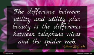 Edwin Way Teale quote : The difference between utility ...