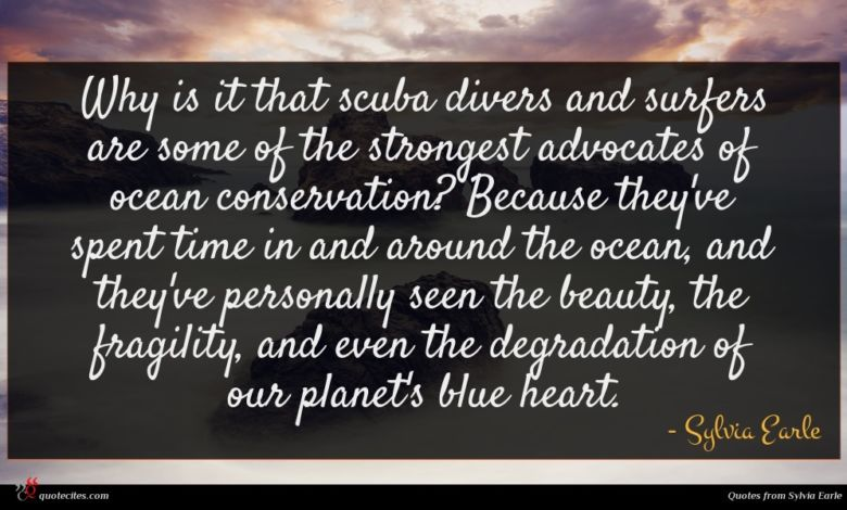 Why is it that scuba divers and surfers are some of the strongest advocates of ocean conservation? Because they've spent time in and around the ocean, and they've personally seen the beauty, the fragility, and even the degradation of our planet's blue heart.
