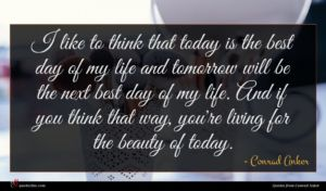 Conrad Anker quote : I like to think ...