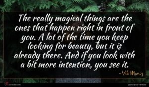 Vik Muniz quote : The really magical things ...