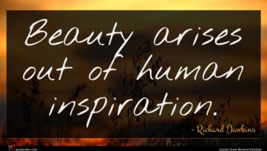 Photo of Richard Dawkins quote : Beauty arises out of …