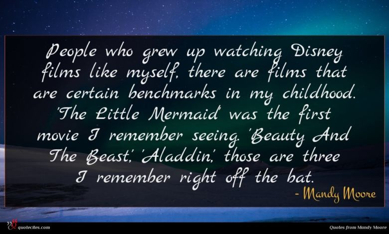People who grew up watching Disney films like myself, there are films that are certain benchmarks in my childhood. 'The Little Mermaid' was the first movie I remember seeing. 'Beauty And The Beast,' 'Aladdin,' those are three I remember right off the bat.
