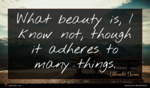 Albrecht Durer quote : What beauty is I ...