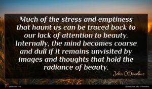 John O'Donohue quote : Much of the stress ...