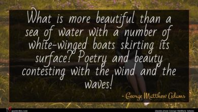Photo of George Matthew Adams quote : What is more beautiful …