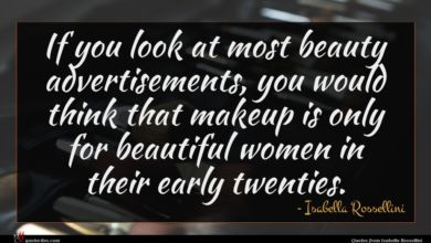 Photo of Isabella Rossellini quote : If you look at …