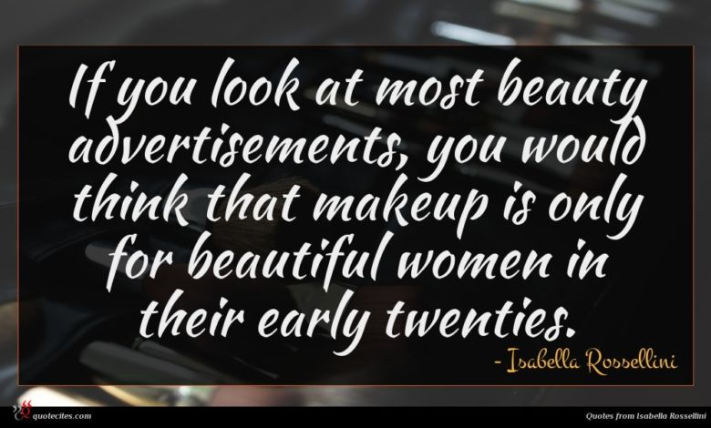 If you look at most beauty advertisements, you would think that makeup is only for beautiful women in their early twenties.