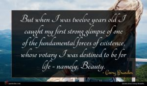 Georg Brandes quote : But when I was ...