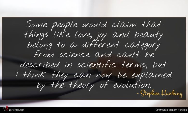 Photo of Stephen Hawking quote : Some people would claim …
