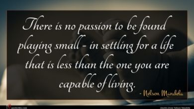 Photo of Nelson Mandela quote : There is no passion …