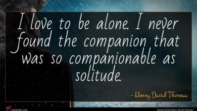 Photo of Henry David Thoreau quote : I love to be …