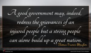 Thomas Francis Meagher quote : A good government may ...