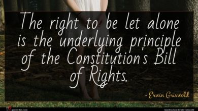 Photo of Erwin Griswold quote : The right to be …
