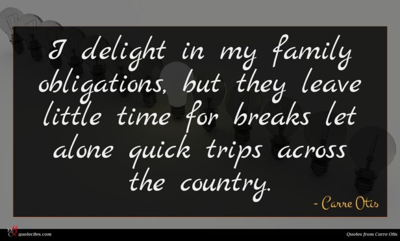 I delight in my family obligations, but they leave little time for breaks let alone quick trips across the country.