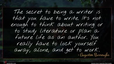 Photo of Augusten Burroughs quote : The secret to being …