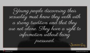 Jasmine Guy quote : Young people discovering their ...