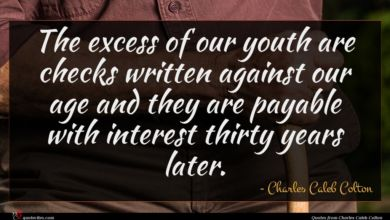 Photo of Charles Caleb Colton quote : The excess of our …