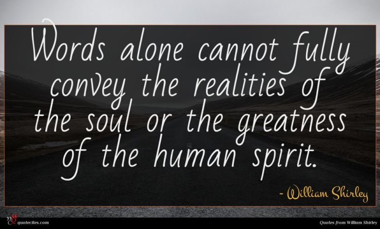 Words alone cannot fully convey the realities of the soul or the greatness of the human spirit.
