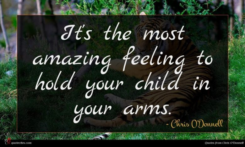 It's the most amazing feeling to hold your child in your arms.