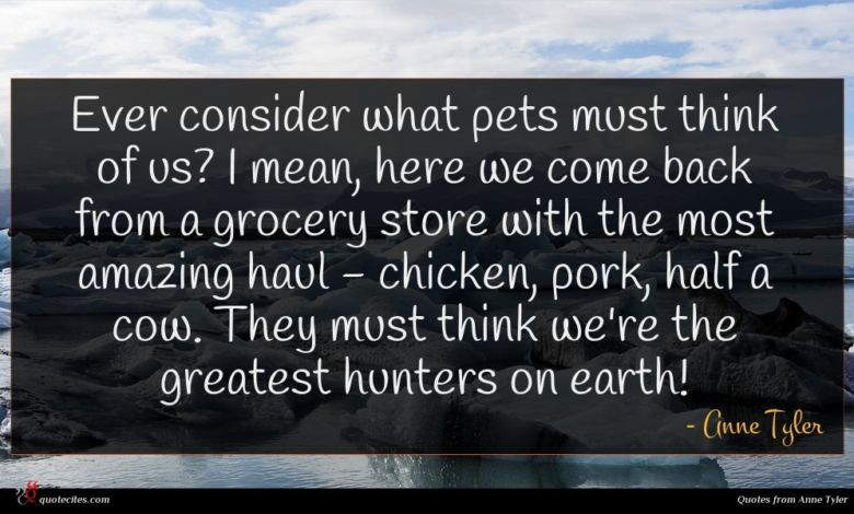 Ever consider what pets must think of us? I mean, here we come back from a grocery store with the most amazing haul - chicken, pork, half a cow. They must think we're the greatest hunters on earth!
