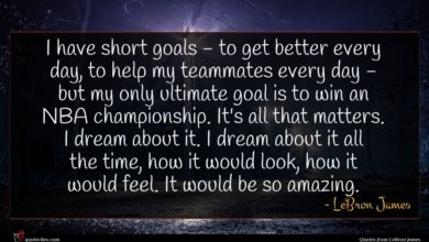 Photo of LeBron James quote : I have short goals …