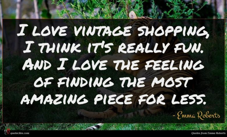 I love vintage shopping, I think it's really fun. And I love the feeling of finding the most amazing piece for less.