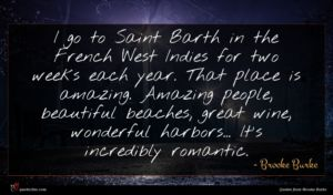 Brooke Burke quote : I go to Saint ...