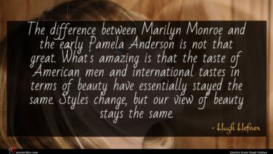 Photo of Hugh Hefner quote : The difference between Marilyn …