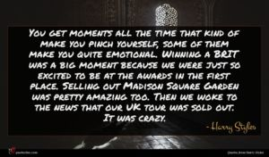 Harry Styles quote : You get moments all ...