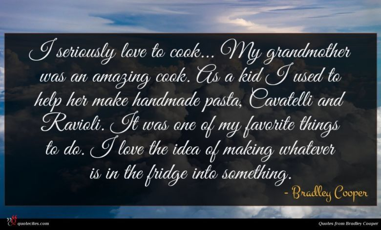I seriously love to cook... My grandmother was an amazing cook. As a kid I used to help her make handmade pasta, Cavatelli and Ravioli. It was one of my favorite things to do. I love the idea of making whatever is in the fridge into something.