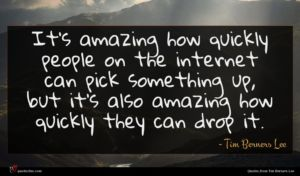 Tim Berners Lee quote : It's amazing how quickly ...
