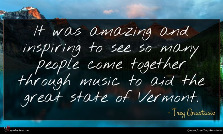 It was amazing and inspiring to see so many people come together through music to aid the great state of Vermont.