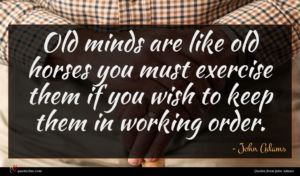 John Adams quote : Old minds are like ...
