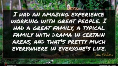 Photo of Tina Yothers quote : I had an amazing …
