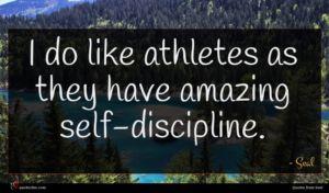 Seal quote : I do like athletes ...