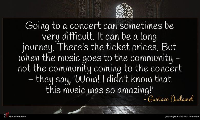 Going to a concert can sometimes be very difficult. It can be a long journey. There's the ticket prices. But when the music goes to the community - not the community coming to the concert - they say, 'Wow! I didn't know that this music was so amazing!'