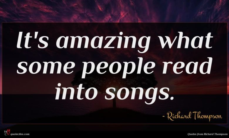 It's amazing what some people read into songs.