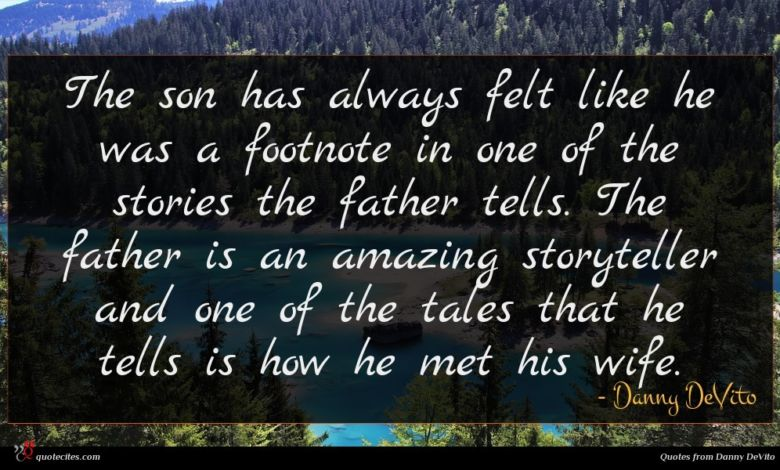 The son has always felt like he was a footnote in one of the stories the father tells. The father is an amazing storyteller and one of the tales that he tells is how he met his wife.