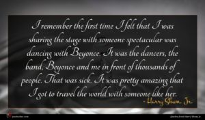 Harry Shum, Jr. quote : I remember the first ...
