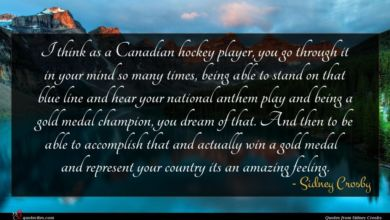 Photo of Sidney Crosby quote : I think as a …