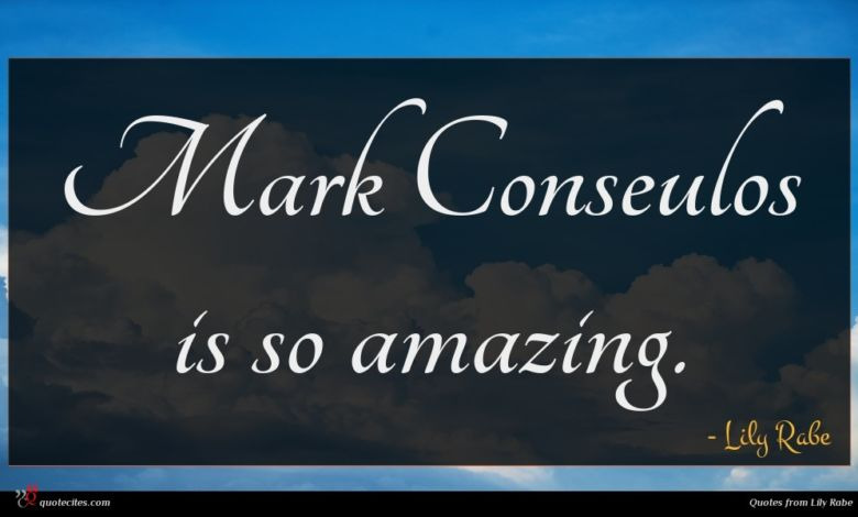 Mark Conseulos is so amazing.